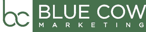 BlueCowMarketingInc white logo
